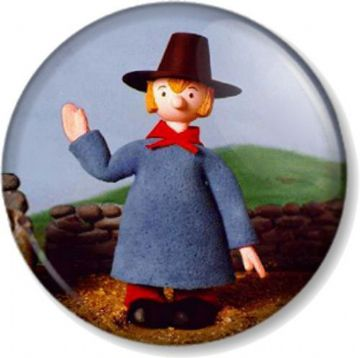Windy Miller Camberwick Green Pin Button Badge Retro Kids TV Stop motion cartoon